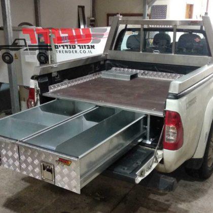 מגירות לרכב,מתקן למלחציים,מתקן לקומפרסור וקשת העמסה נירוסטה 372