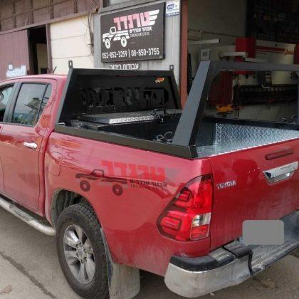קשת העמסה כפולה, ארגז כלים וחיפוי רצפה לרכב 376