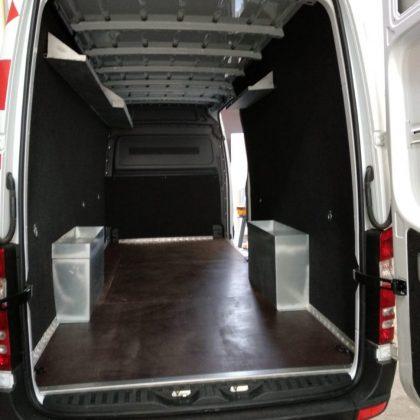 דיפון רכב, רצפת בירץ' ימי קירות דיקט מחופה לבד 313